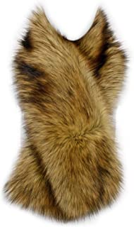 Winter Straight Scarf Wrap Faux Fake Fur Collar Shawl Shrug