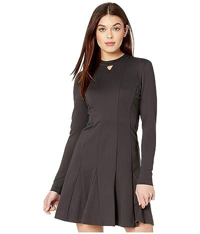 Nicole Miller Ponte Fit-and-Flare Dress (Dark) Women