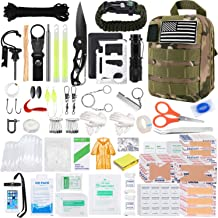 KOSIN Survival Gear and Equipment, 500 Pcs Survival First Aid kit, Fishing Gifts for Men Dad Boy Fathers Day, Trauma Bag C...
