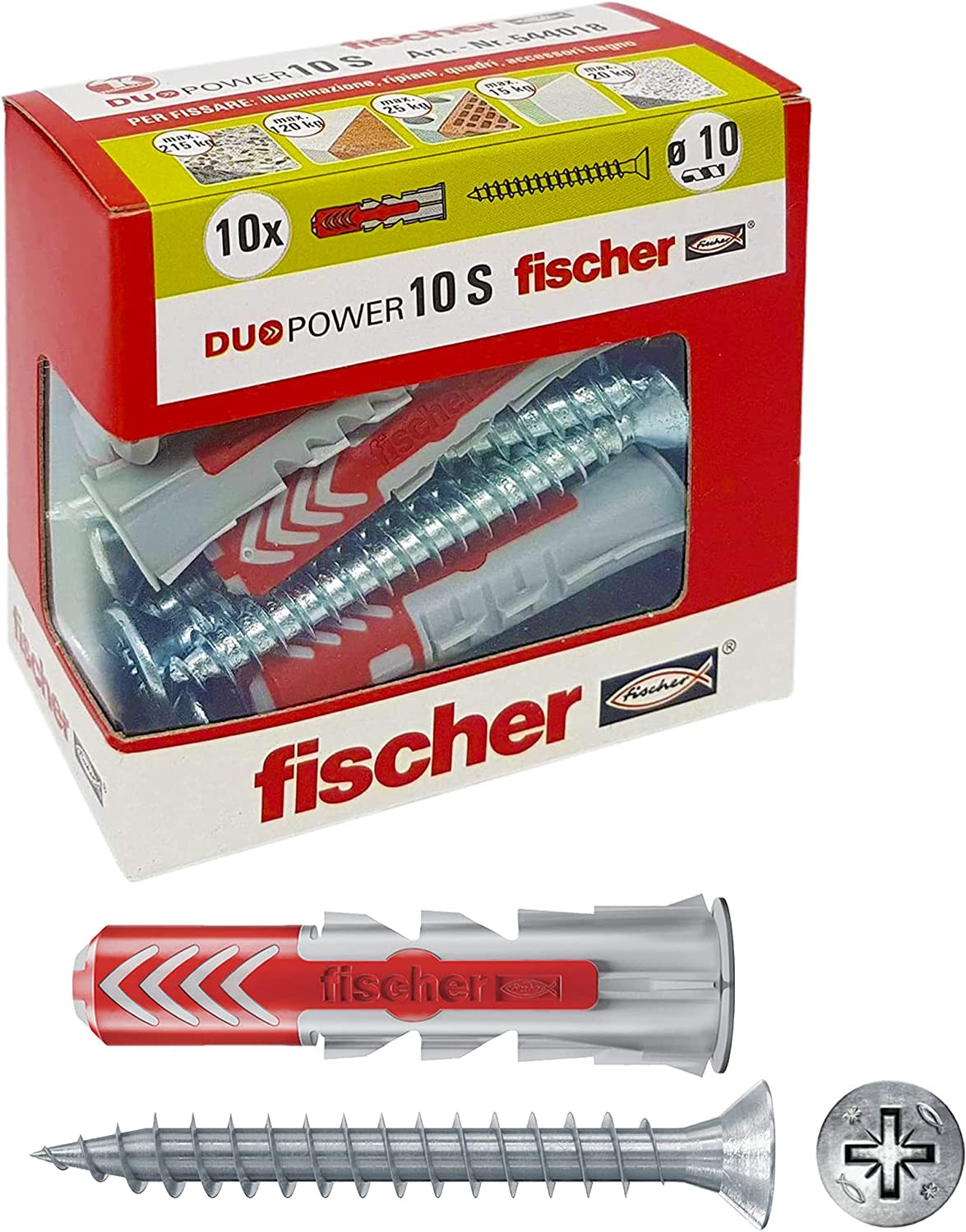 Fischer 544018with Dowel Screw for an Pierced Full quality assurance Ranking TOP18 Murature