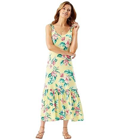 Tommy Bahama Floristic Approach Midi Dress (Lillikoi Yellow) Women