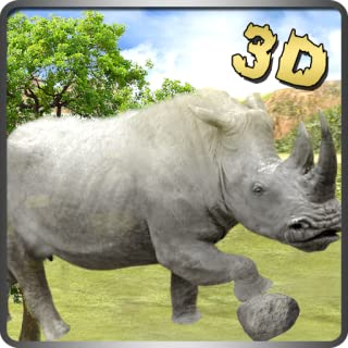 Last White Rhino Rules Of Jungle Survival Rampage 3D Game: Life In Jungle Survivor Action Thrilling Adventure Mission Free For Kids 2018