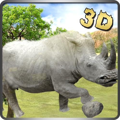 Últimas réguas brancas do rinoceronte da selva sobrevivência rampage jogo 3d: vida na selva do sobrevivente ação emocionantes aventura missão livre para as crianças 2018