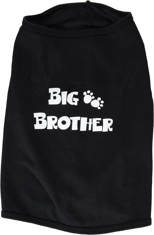 Ruff Ruff and Meow Large Doggie Tank Top, Big Bredher, Black
