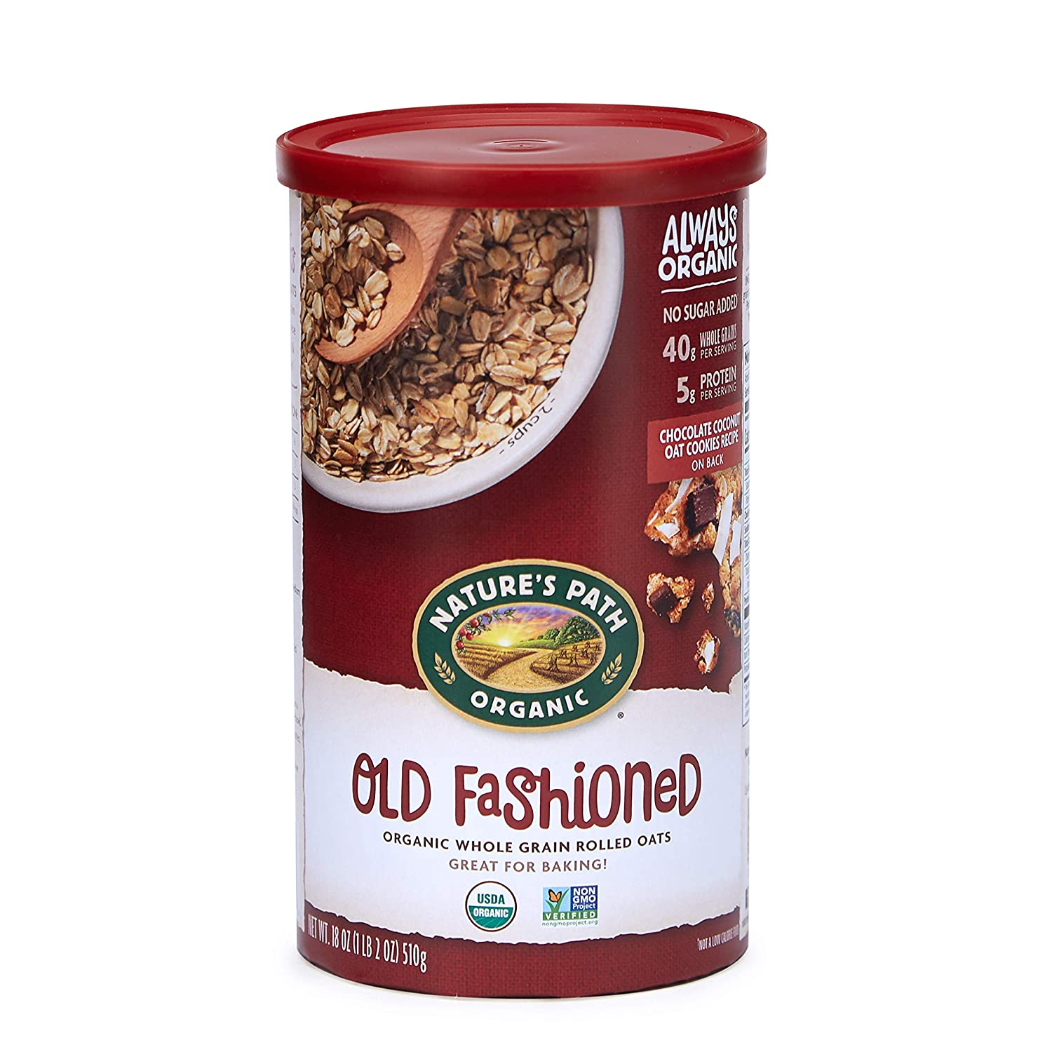 Nature's Path Max 74% OFF Organic Old Fashioned Oats Max 44% OFF Grain Rolled Whole