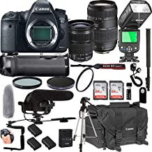 Canon EOS 6D Mark II with 24-105mm f/3.5-5.6 is STM + Tamron 70-300mm f/4-5.6 Di LD Macro Lens + 128GB Memory + Pro Battery Bundle + Power Grip + TTL Speed Light + Pro Filters,(24pc Bundle)