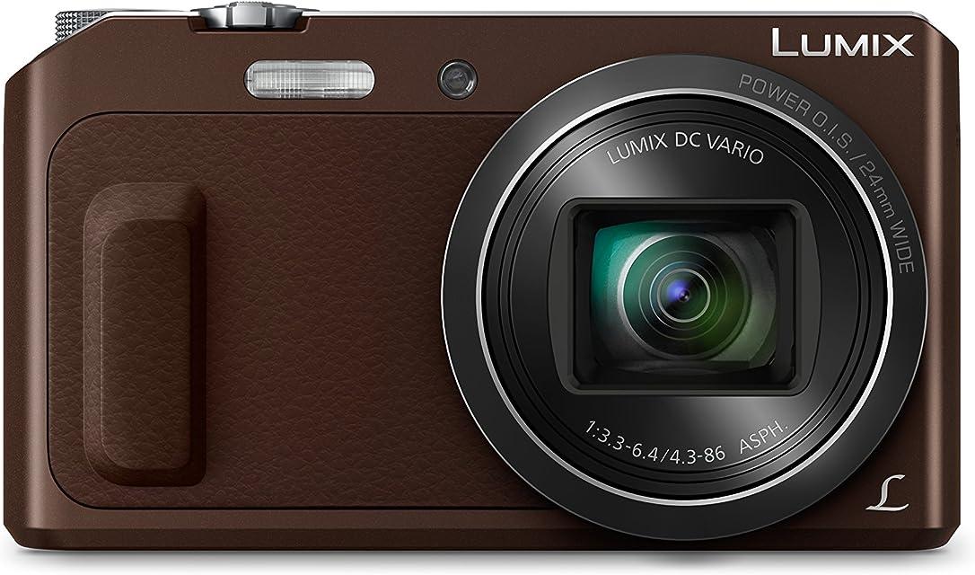 Panasonic Lumix DMC-TZ58 Cámara Digital Compacta (16 MP 4608 x 3456 Pixeles Mos 20x Full HD Marrón) (versión importada)