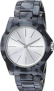 Armani Exchange Women's AX4343 Black and Grey Acetate Watch