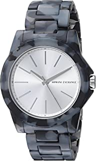 Armani Exchange Women's AX4343 Black and Grey Acetate Watch