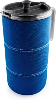 GSI Outdoors 50 fl. oz. JavaPress Lightweight, Insulated and Shatter-Resistant for French Press Coffee while Camping or the Office, Blue, Model:79452
