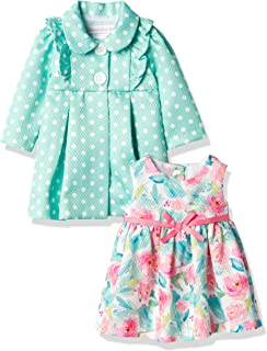 Bonnie Baby Baby Girls' Coat and Floral Dress Set