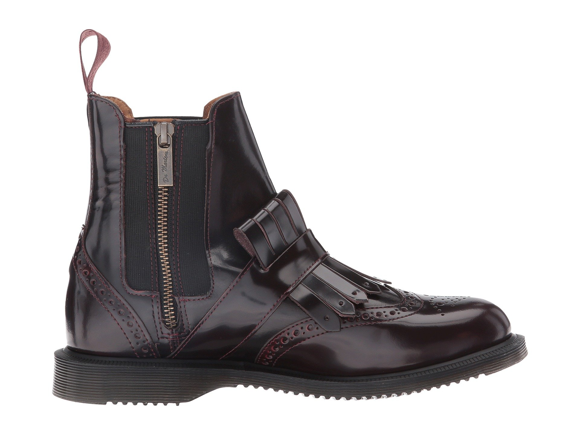 dr martens tina brogue chelsea w kiltie at 6pm. Black Bedroom Furniture Sets. Home Design Ideas