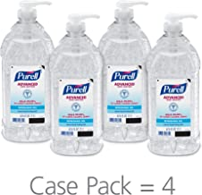 PURELL Advanced Hand Sanitizer Refreshing Gel for Workplaces, Clean Scent, 2 Liter pump bottle (Pack of 4) – 9625-04