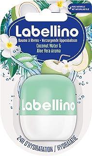 Nivea Labellino Coconut Water & Aloe Vera (1 x 7 g), Balsamo per labbra idratante a lunga durata agli oli naturali, cura d...