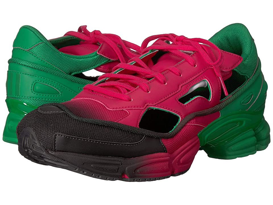 adidas by Raf Simons Raf Simons Replicant Ozweego (Pink/Adidas Green/Core Black) Athletic Shoes