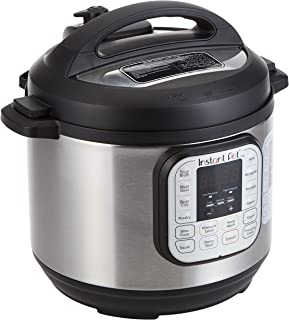 Instant Pot DUO 6, 5.7 L (6-Quart), 7-in-1 Multi-Use Electric Programmable Pressure Cooker, 14 smart programs, Stainless S...