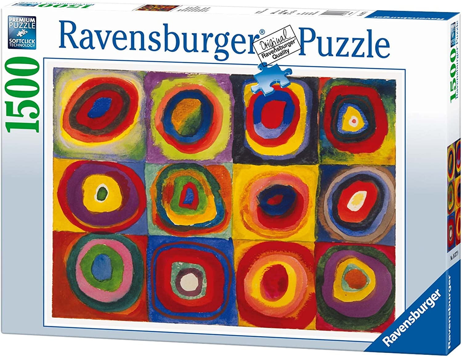 color Study of Squares and Circles, 1913, 1500 Piece Jigsaw Puzzle Made by Ravensburger