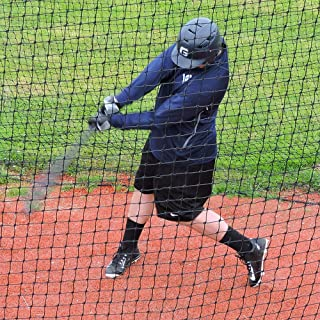 JUGS Batting Cage Nets: #60 Twisted Knotted Black Polyethylene. Heavy Duty, Commercial Grade