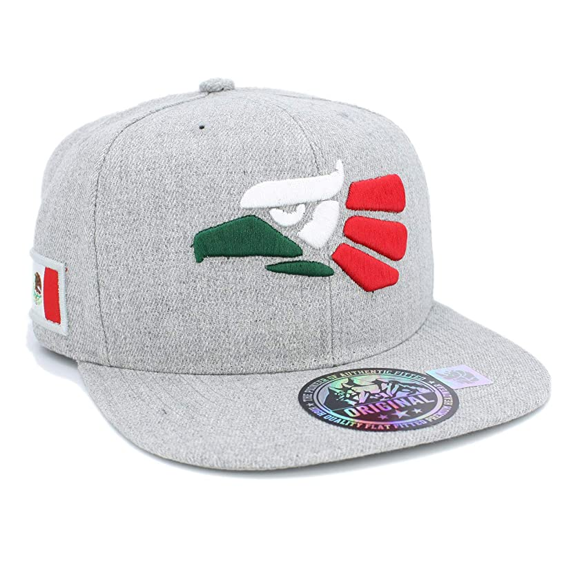 Embroidered Eagle Head with Mexico Flag Snapback Baseball Cap