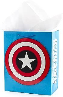 Hallmark 5WDB1089 Avengers Tissue Paper Gift Bag, Large Captain America Shield