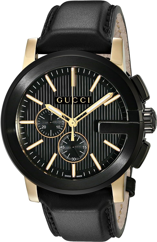 Gucci Gucci G - Chrono Collection Black Mens' Watch(Model:YA101203)