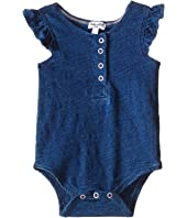 Splendid Littles - Indigo Henley Ruffled Sleeve Bodysuit (Infant)