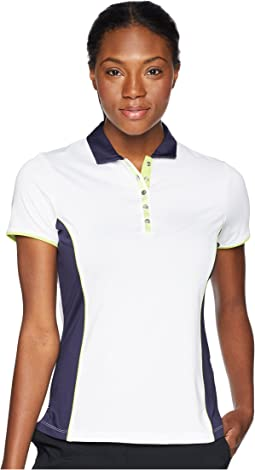 Color-Blocked Short Sleeve Polo