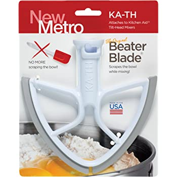 Original Beater Blade for Kitchen Aid 4.5 and 5 Quart Tilt-Head Mixer, , White, Made in USA