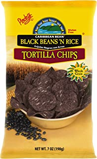 Plocky's Tortilla Chips, Black Beans 'N Rice, 7-Ounce Bags (Pack of 12)