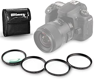 72MM Ultimaxx Professional Four Piece HD Macro Close-up Filter Kit (1, 2, 4, 10 Diopter Filters) for Camera Lens with 72MM...