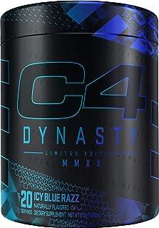 C4 Dynasty MMXX Pre Workout Powder ICY Blue Razz   Preworkout Energy Supplement for Men & Women   350mg Caffeine + 6.4g Be...