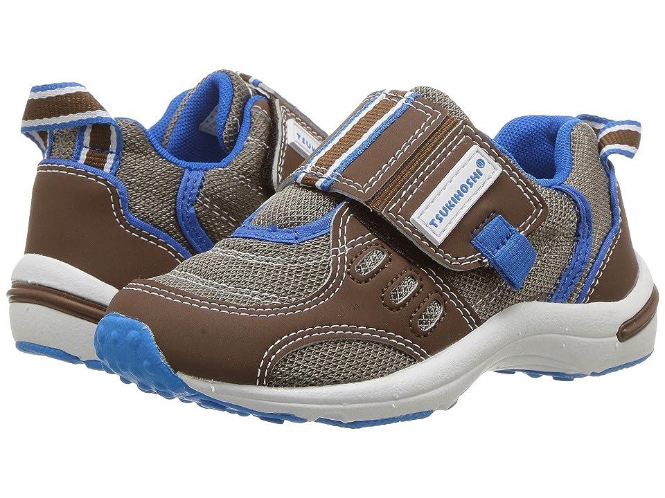 Tsukihoshi Kids Euro (Toddler/Little Kid) (Brown/Royal) Boys Shoes