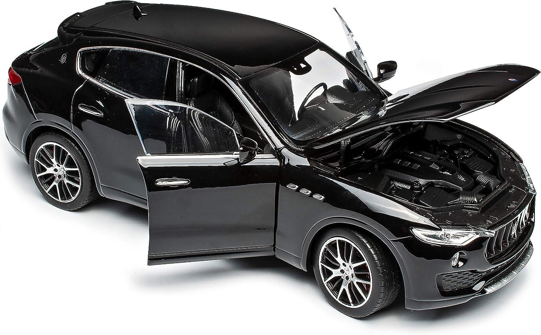 Maserati Levante SUV Schwarz Ab 2016 1//24 Welly Modell Auto mit individiuellem Wunschkennzeichen
