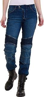 QINYA Motorradjeans Damen Stretch Motorradhose Jeanshose Damen Anti-Fall Mesh Sommer Atmungsaktiv Jeans Rennhose Army Green,3XS