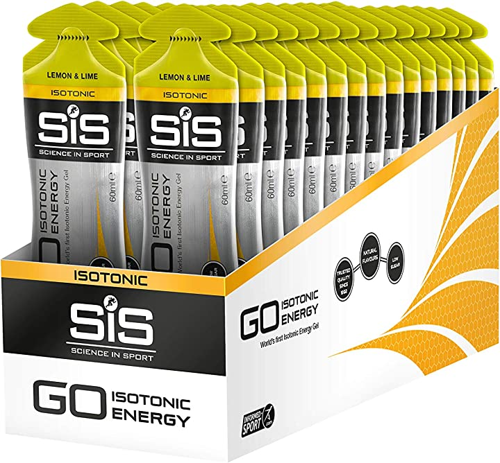 Gel isotonico energetico, gusto limone e lime, confezione da 30 x 60ml science in sport sis go 002252