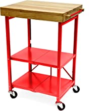Best red portable kitchen island Reviews
