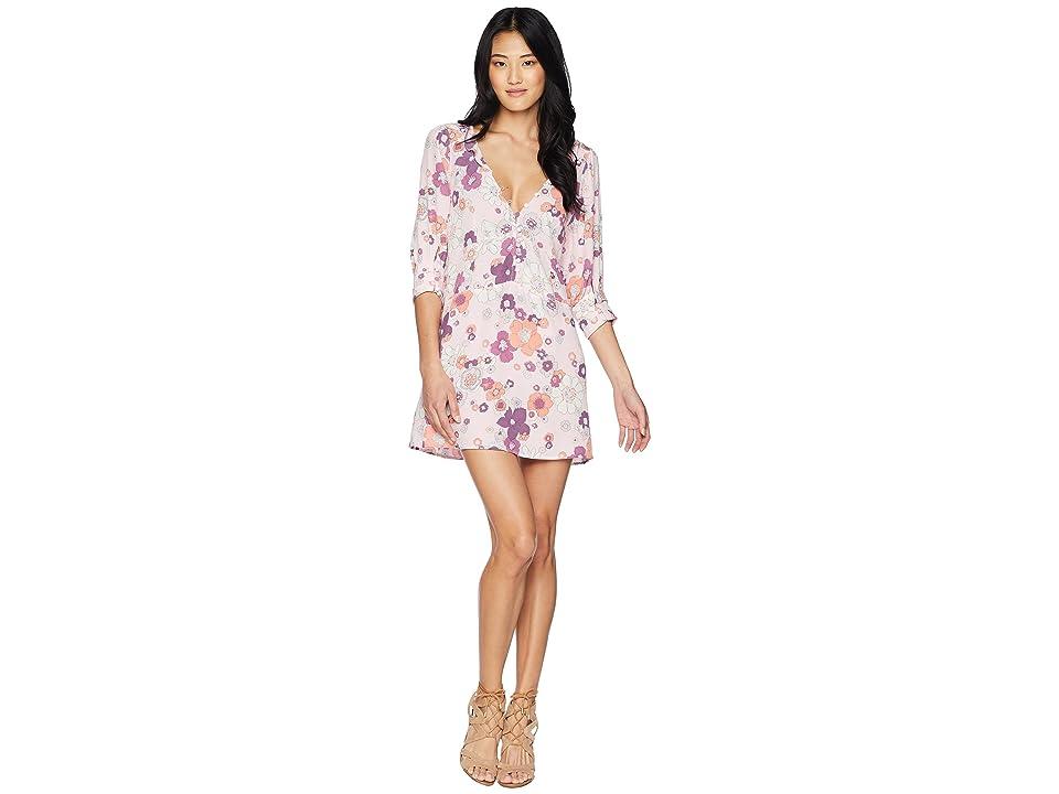 For Love and Lemons Magnolia Trapeze Mini Dress (Pink Blossom) Women