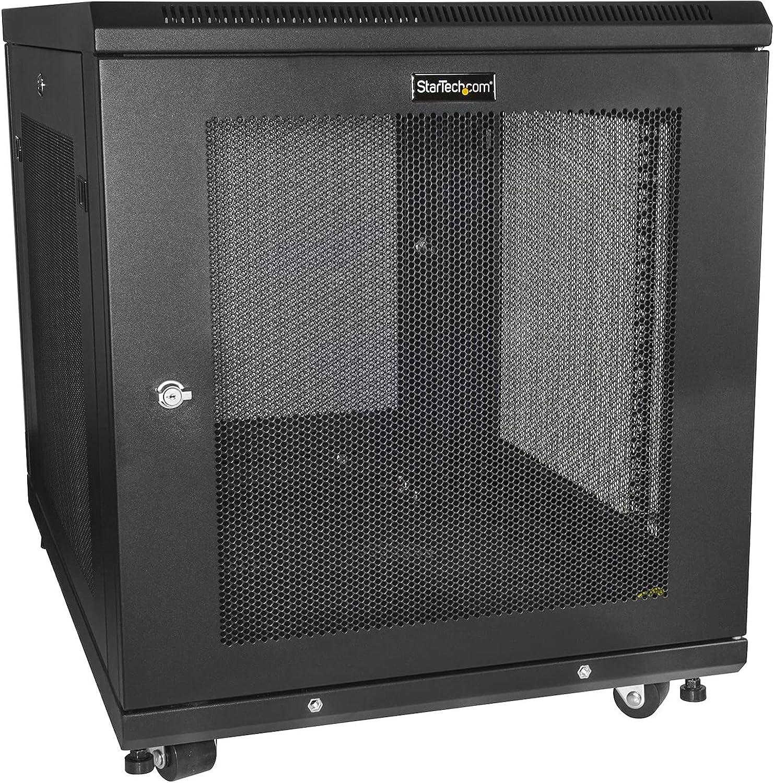 StarTech.com 12U Server Rack Cabinet - 4-Post Adjustable Depth (2