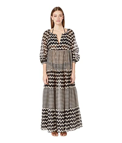 Stella McCartney Drawstring Tunnels Long Dress Cover-Up (Black/Cream) Women