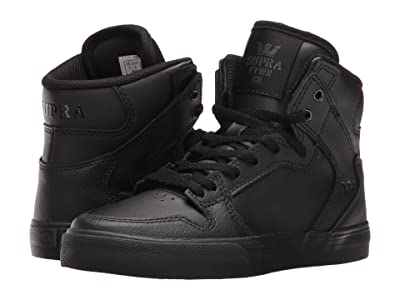 Supra Kids Vaider (Little Kid/Big Kid) (Black/Black 1) Boys Shoes