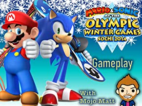 Mario and Sonic At The Olympic Winter Games Sochi 2014 Gameplay With Mojo Matt