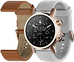 Moto 360 3rd Gen 2020 - Wear OS by Google - The Luxury Stainless Steel Smartwatch with Included Interchangeable Genuine Le...