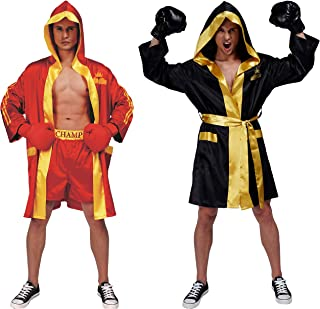 Adult Men Boxing Costume Heavyweight World Champion Boxer Includes Robe and Shorts