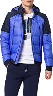 BOSS Mens J Kivu Water-Repellent Down Jacket with Detachable Hood and Sleeves