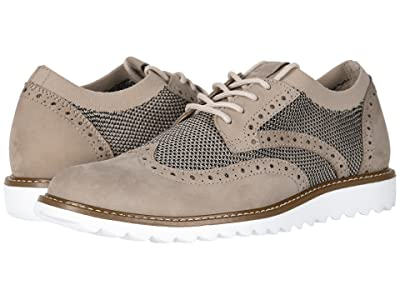Dockers Hawking Knit/Leather Smart Series Dress Casual Wingtip Oxford with NeverWet (Oatmeal/Black Knit/Nubuck) Men