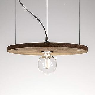 Richter-Leuchten Bauhaus Pro100 - Lámpara de techo led con filamento globo (6 W, transparente, no regulable), Eichenholz Reräuchert, Chrom, E27 60.00W 230.00V