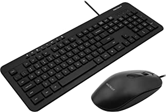 Macally USB Wired Keyboard and Mouse Combo Bundle for PC, Desktop Computer, Laptop, Notebook, ChromeBook - Ultra Slim Keyboard Mouse Combo Set, Compatible with Windows 10/8/7/Vista/XP, etc.