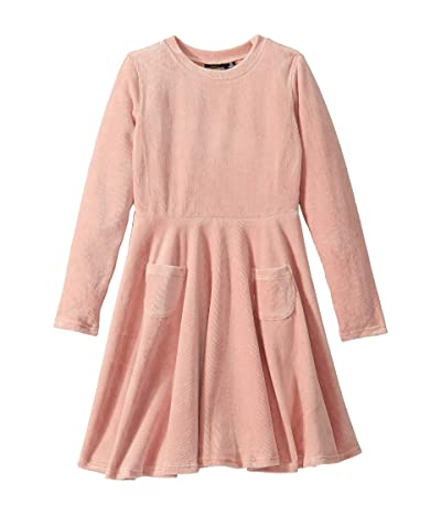 Rock Your Baby Corduroy Long Sleeve Waisted Dress (Toddler/Little Kids/Big Kids) (Pink) Girl