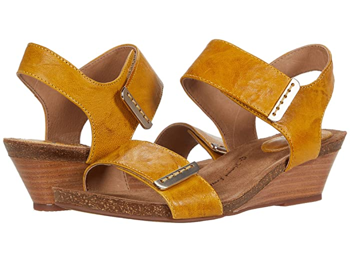 Sofft  Verdi (Lemon Yellow Oyster) Womens Wedge Shoes
