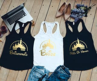 Fairy Tale Castle Bride Tank - Castle Bridesmaid Shirts - Bachelorette Party Shirts - Bachelorette Party - Bachelorette Tanks - Bridal Party